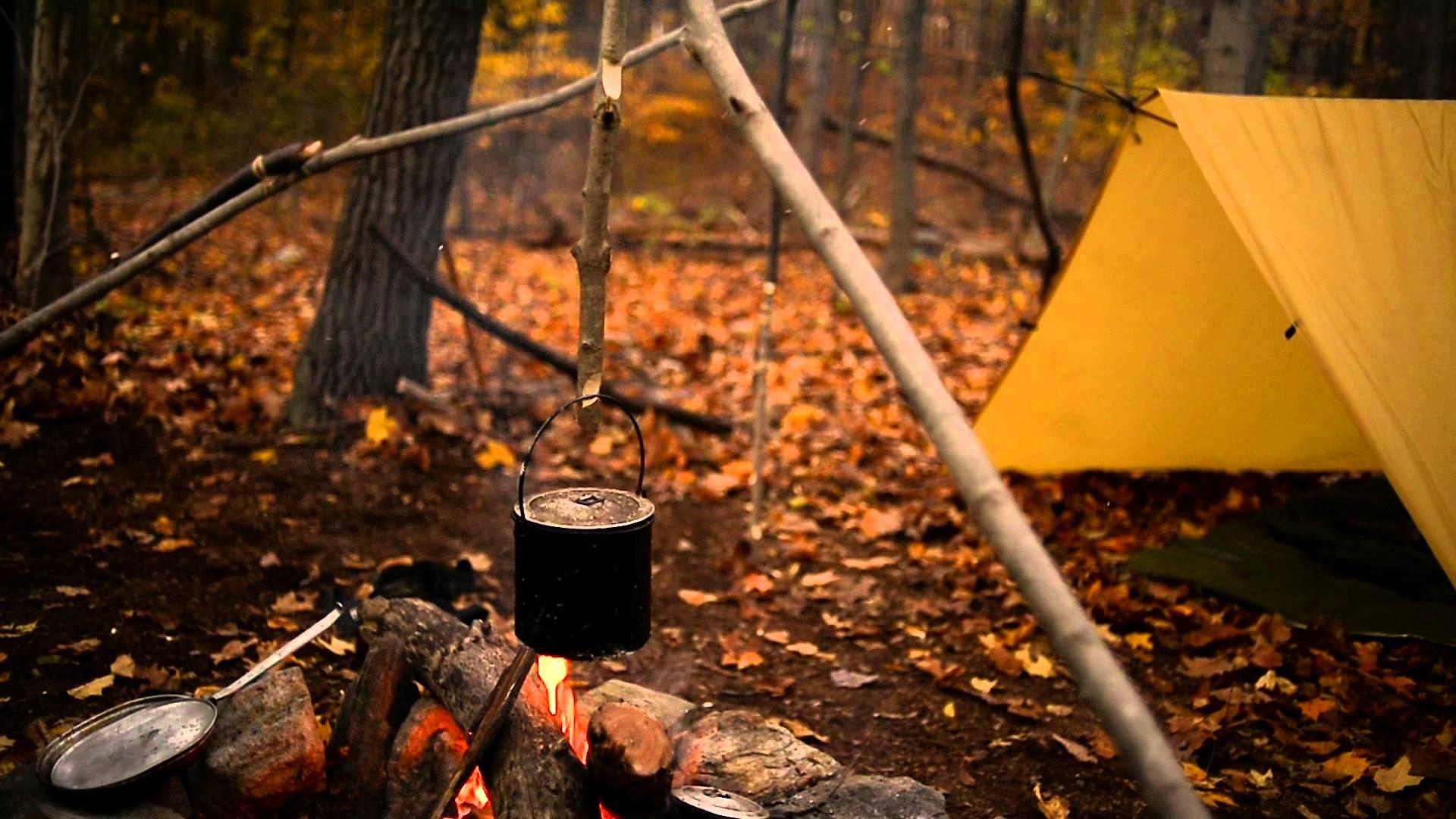 acampar con amigo